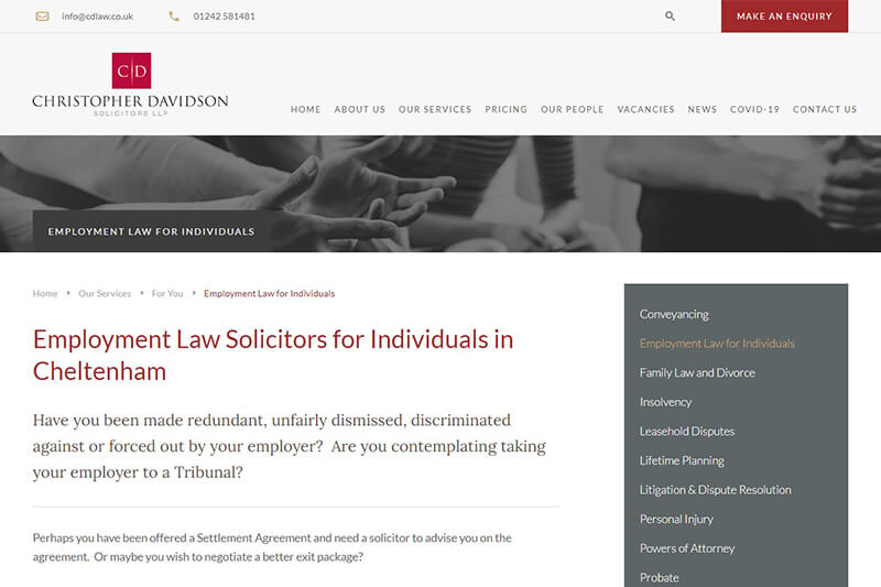Christopher Davidson Solicitors Gloucestershire
