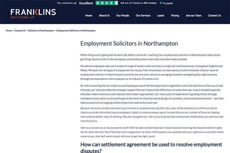 Franklins Solicitors Northamptonshire
