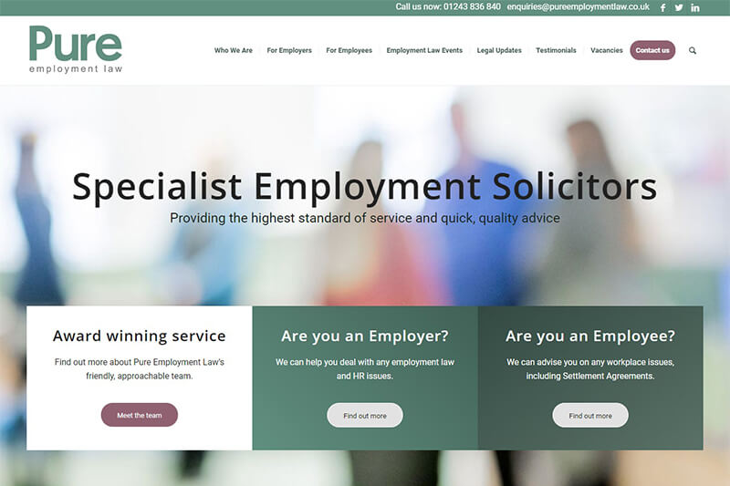 Pure Employment Law Solicitors West Sussex